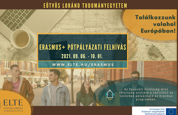ERASMUS+ HALLGATÓI PÓTPÁLYÁZATI FELHÍVÁS 2021/22