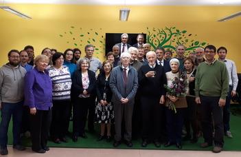 Hunyadvári László köszöntése 70. születésnapja alkalmából