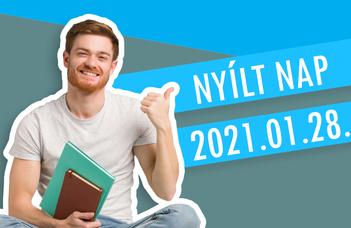 Online Nyílt Nap 2021.01.28.