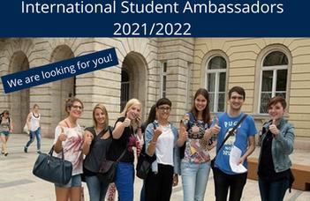 EÖTVÖS LORÁND UNIVERSITY IS LOOKING FOR INTERNATIONAL STUDENT AMBASSADORS (2021/22)