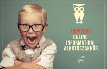 Ingyenes informatikai alkotószakkörök gyerekeknek