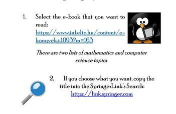 Springer e-könyvek az Informatikai Kar Könyvtárában